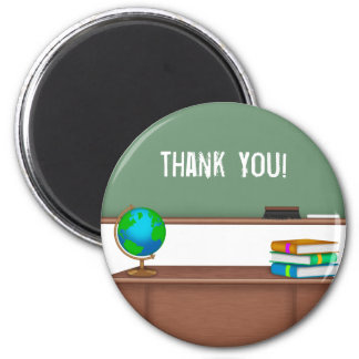 Thank You Teacher Gifts 6 Cm Round Magnet