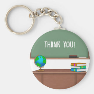 Thank You Teacher Gifts Basic Round Button Key Ring