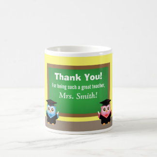 Thank you teacher, Graduation Farewell, Cute Owls Coffee Mug