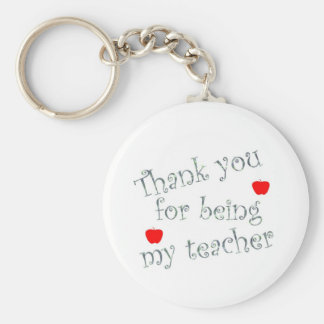 Thank you teacher key ring