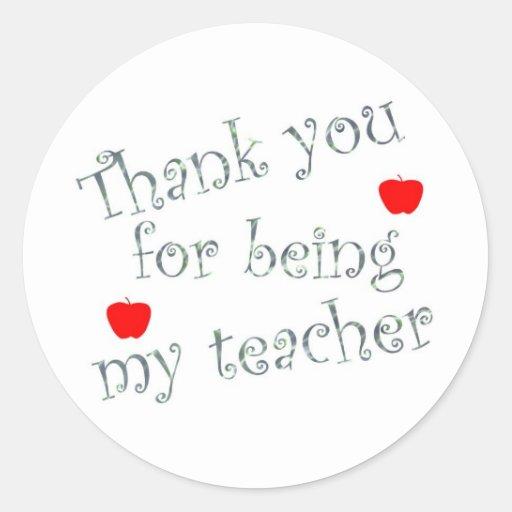 Thank you teacher stickers
