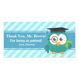 Thank You Teacher, Teacher Owl, Patience Personalized Photo Card