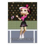 Thank You Tennis Coach Greeting Card