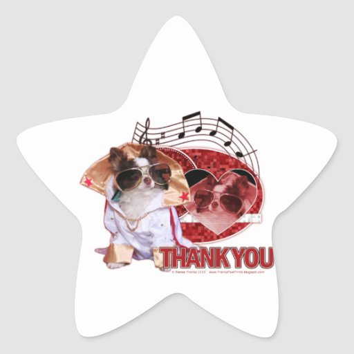 Thank You - Thank You Very Much - Chihuahua -Gizmo Star Sticker