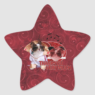Thank You - Thank You Very Much - Chihuahua -Gizmo Star Stickers
