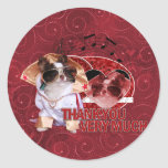 Thank You - Thank You Very Much - Chihuahua -Gizmo Round Sticker