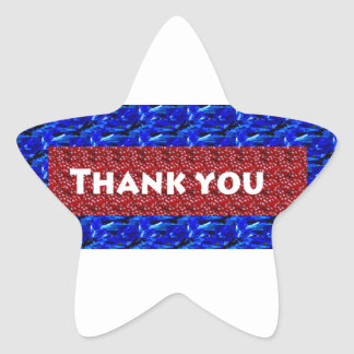 Thank you ThankYou on giveaway gifts Star Sticker