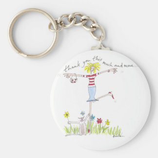Thank you this much and more key fob basic round button key ring