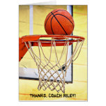 Thank You to Basketball Coach Greeting Card