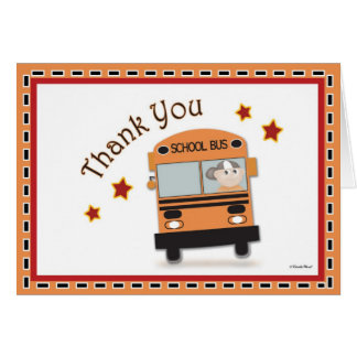 Thank You to Bus Driver Card