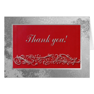 Thank you to Guests Birthday Dinner, Elegant Red Note Card