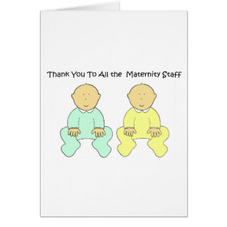 Thank you to maternity staff card