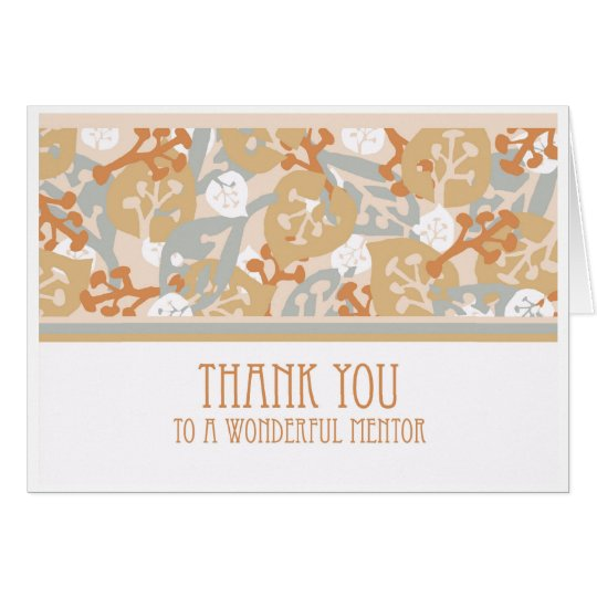 Thank You to Mentor Greeting Card, Nature Art