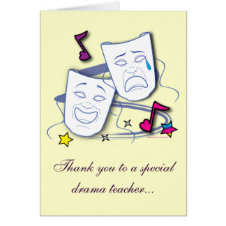 Thank You To My Drama Teacher: Play Card