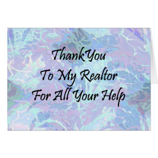 Thank You To My Realtor For All Your Help Card