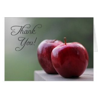 Thank You To Or From A Teacher (note card) Card