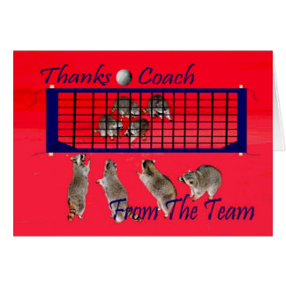 Thank You To Volleyball Coach Greeting Card