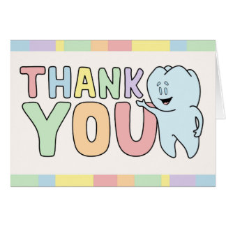 """Thank You"" Tooth Card"