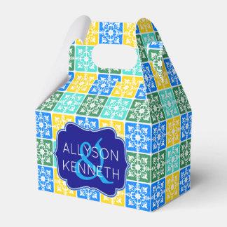 Thank You Trendy Resort Fashion Mediterranean Tile Favour Box
