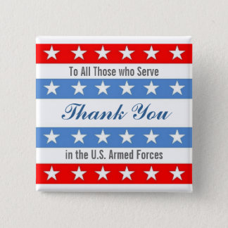 Thank You Troops 15 Cm Square Badge