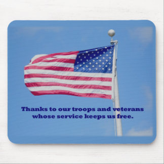 Thank You Troops American Flag Mousepads