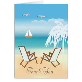 Thank You Tropical Wedding Card