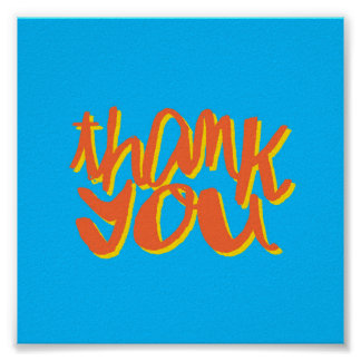 Thank You Typographic Art Gift Poster