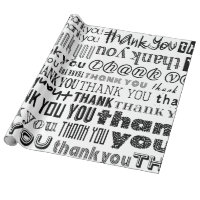 THANK YOU Typography Speciality Gift Wrap