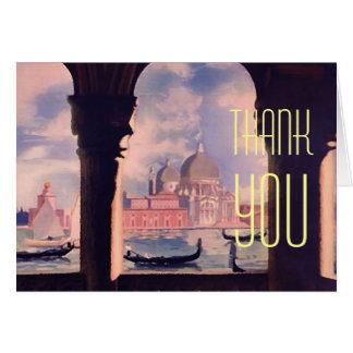 Thank You Venice Gondolas Greeting Card
