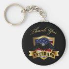 Thank You Veterans Key Ring