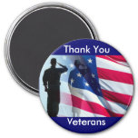 Thank You Veterans Military Tribute 7.5 Cm Round Magnet