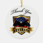 Thank You Veterans Personalised Ornament