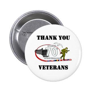 Thank you veterans - Thank you veterans 6 Cm Round Badge