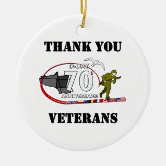 Thank you veterans - Thank you veterans Christmas Ornament