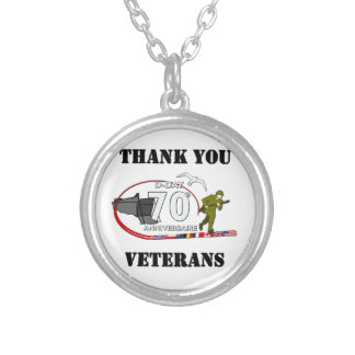 Thank you veterans - Thank you veterans Silver Plated Necklace