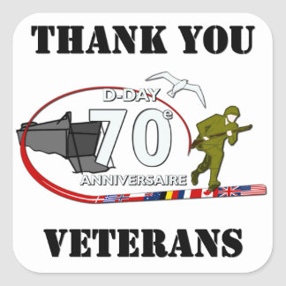 Thank you veterans - Thank you veterans Square Stickers