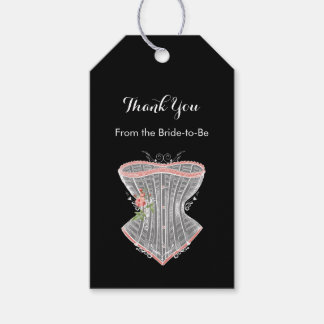 Thank You Vintage Corset Personal Bridal Shower Gift Tags