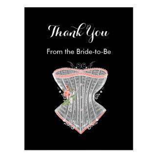 Thank You Vintage Corset Personal Bridal Shower Postcard