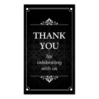 Thank You - Vintage Shadow of Damask Favor Tag Pack Of Standard Business Cards