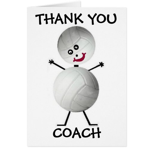 Thank You Volleyball Coach Greeting Card