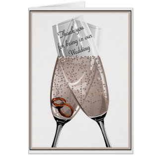 Thank You Wedding Attendants Greeting Card