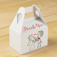 Thank You Bride & Groom Favour Box