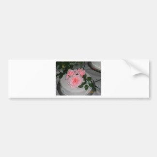 Thank you Wedding Cake Bumper Sticker