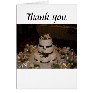Thank you Wedding Cake Card