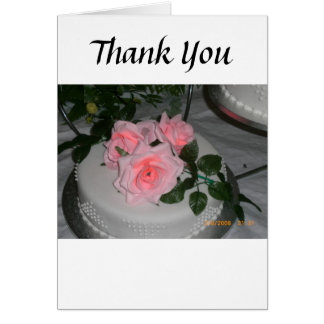 Thank you Wedding Cake Greeting Card