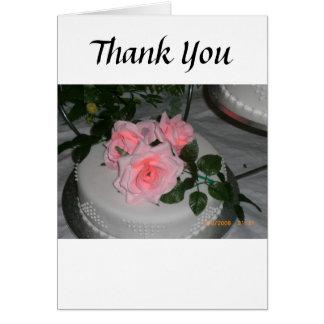 Thank you Wedding Cake Greeting Cards