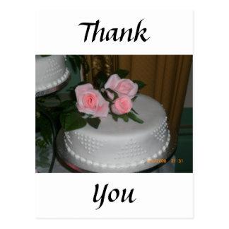 Thank you Wedding Cake Postcards