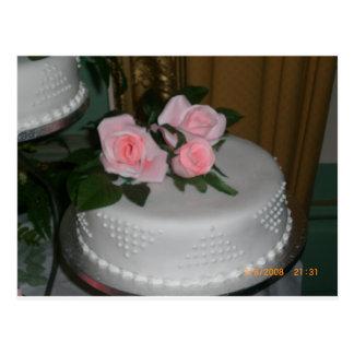 Thank you Wedding Cake Postcard