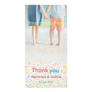 Thank you, wedding, card, appreciation, marriage a customised photo card