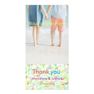 Thank you, wedding, card, appreciation, marriage personalized photo card
